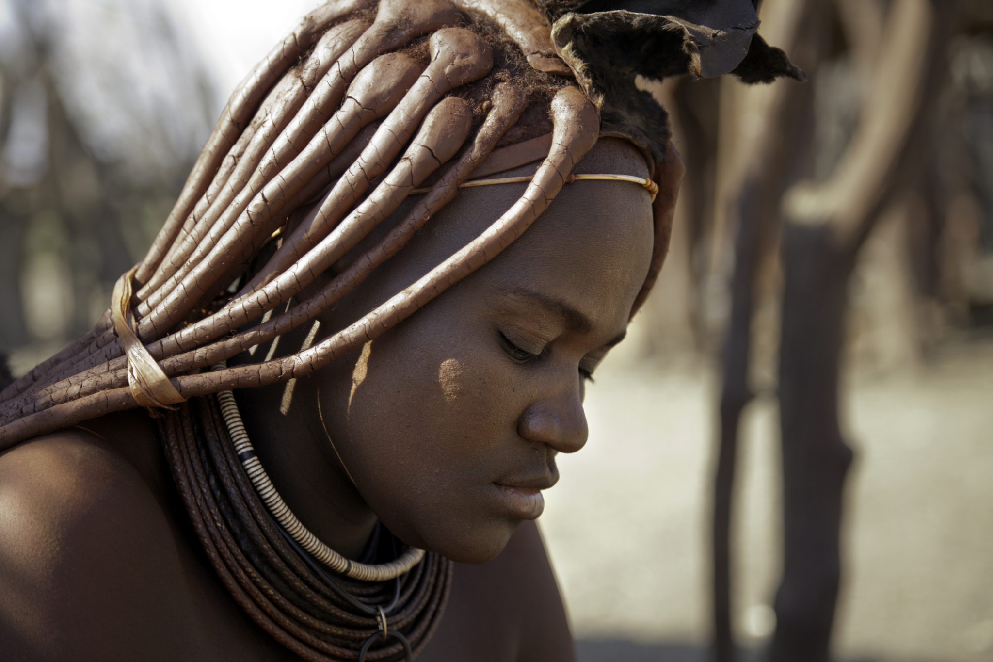 Beautiful Himba woman in Namibia