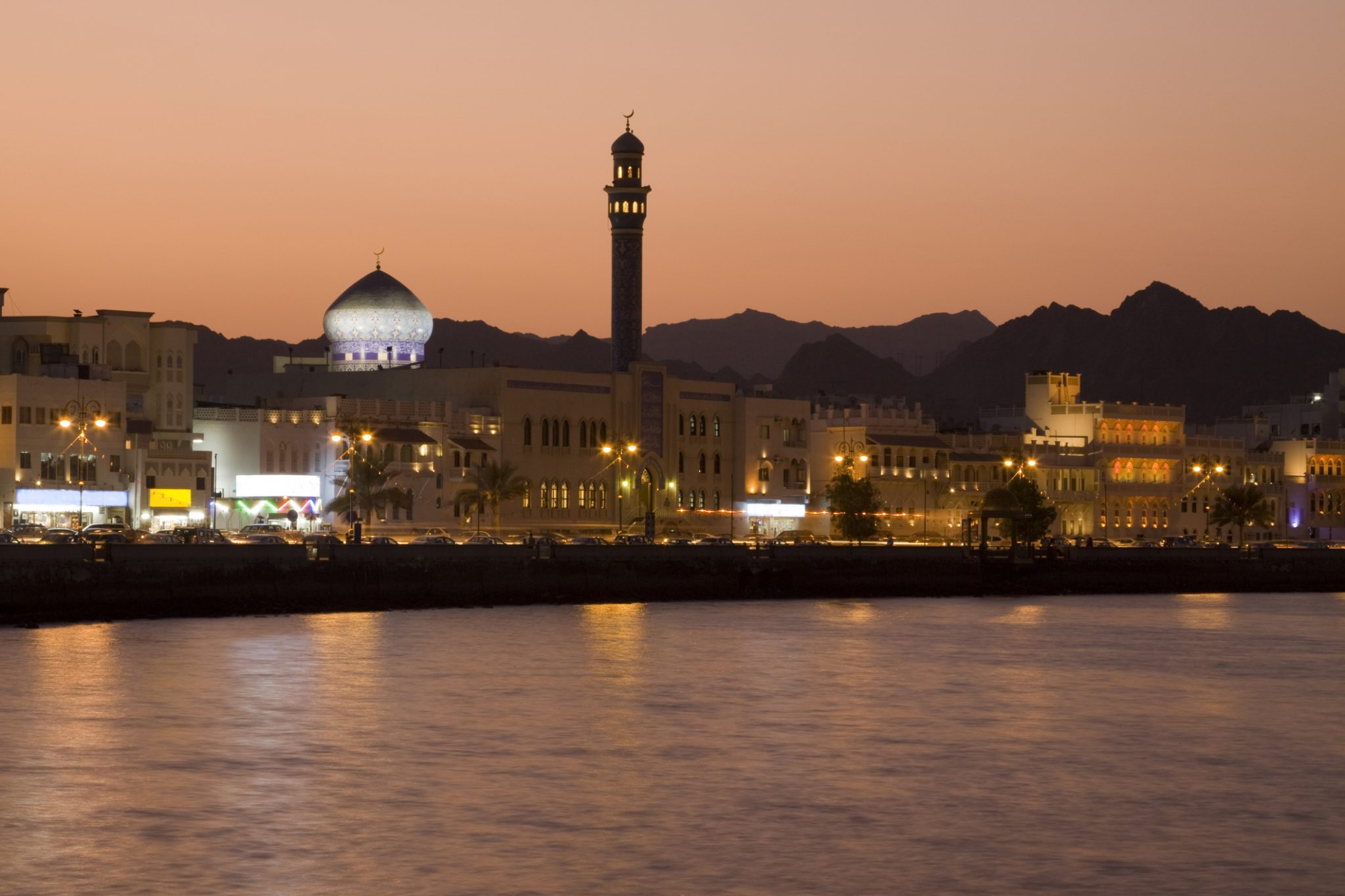Sunset in Muscat, Oman.